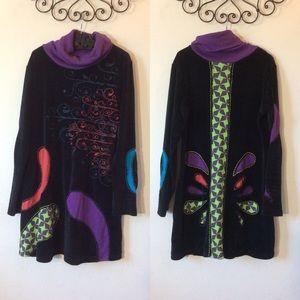 Vintage Dresses - The Collection Royal Reptilian Black Velvet Dress